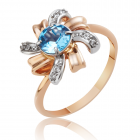 Золотое кольцо с топазами «Нежность»