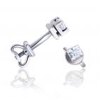 Золоті сережки з діамантом «Зірочки»