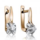 Золоті сережки з діамантами «Classique»