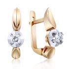 Золоті сережки з діамантом «Блискуча Майя»