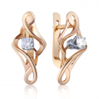 Золотые серьги с бриллиантами «Романтическое путешествие»