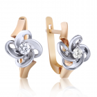 Золоті сережки з діамантами «Magic»