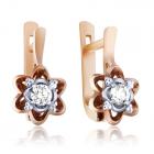 Золоті сережки з діамантами «Жіноча неперевершеність»