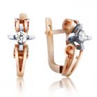 Золоті сережки з діамантами «Tiziana»