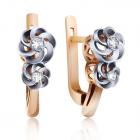 Золоті сережки з діамантами «Блиск натхнення»
