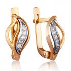 Золотые серьги с куб.цирконием