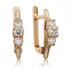 Золоті сережки з фіанітами «Джемма»