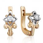 Золоті сережки з діамантами «Мрія»
