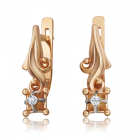Золотые серьги с бриллиантами «Ms. Louise»