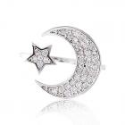 Золотое кольцо «Звезда и месяц»
