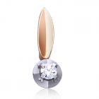 Золотий кулон з діамантом «Блискуча Майя»