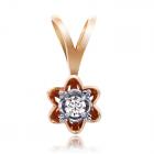 Золотий кулон з діамантом «Жіноча неперевершеність»