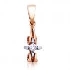 Золотий кулон з діамантами «Tiziana  »