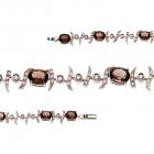 Золотий браслет з раухтопазами і цирконію «Nomeolvides»