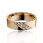 Обручальное кольцо с бриллиантами «New life»