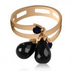 Золотое кольцо с черными гранатами «Melanos»