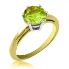 Золотое кольцо с хризолитом «VIVA»