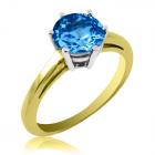 Золотое кольцо с топазом «VIVA»