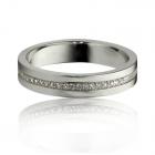 Обручальное золотое кольцо с дорожкой бриллиантов «Wed»