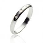 Платинова обручка c трьома діамантами «Classic wedding»