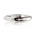 Обручальное кольцо c тремя бриллиантами «Classic wedding»