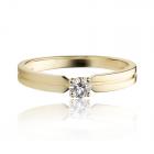 Золотое кольцо с цирконием «Твоя навеки»