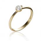 Золоте кільце з діамантом «У Парижі»