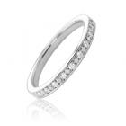 Обручальное кольцо с бриллиантами дорожкой