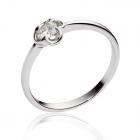 Золотое кольцо с цирконием «Романтика»
