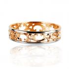 Обручка ажурна золота «Antiqa»