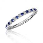 Золотое кольцо с сапфирами и бриллиантами «Caroline»