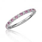 Кольцо с бриллиантами и розовым сапфиром Caroline