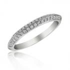 Обручальное кольцо с цирконием «Gaetano»