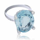 Золотое кольцо с крупным аквамарином «Tendresse»