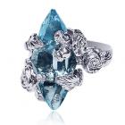 Золотое кольцо с топазом «Azzerra»
