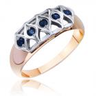 Золотое кольцо с сапфиром «Соблазн Калерии»