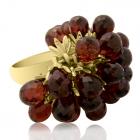 Золотое кольцо с гранатом «Бордо»