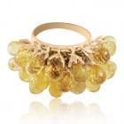 Золотое кольцо с цитринами «Шардоне»
