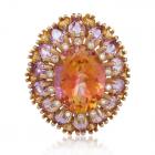 Эксклюзивное золотое кольцо драгоценными камнями