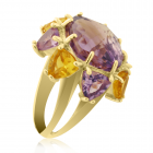 Золотое кольцо с аметистом «Нумидия»
