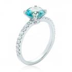 Золотое кольцо с топазом и цирконием «Kiss»