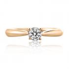 Золоте кільце з діамантом «Daniele»