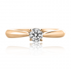 Золотое кольцо с бриллиантом «Daniele»