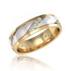 Золотое обручальное кольцо с бриллиантами «Alice»