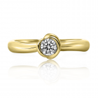 Золоте кільце з діамантом «Benedetto»