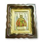 Срібна ікона «Святий Миколай» з позолотою