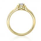 Золота заручальна каблучка з цирконієм «Vico»
