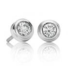 Золоті сережки з діамантом «Corrado»
