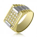 Золотой мужской перстень цирконий Сваровски