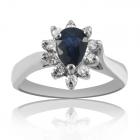 Золотое кольцо c сапфиром «Princess Cathrine»